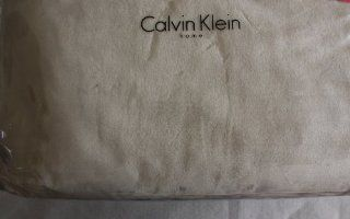 Calvin Klein Fleece Ultra Soft & Plush Cream Queen Blanket   Bed Blankets