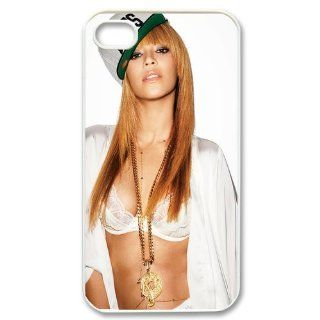 Custom Sexy Beyonce Cover Case for iPhone 4 4s LS4 989 Cell Phones & Accessories