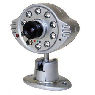 Wisecomm OC990 Mini Indoor Night Vision Color Security Camera with Audio and Adjustable Lens   Mini (Silver)  Bullet Cameras  Camera & Photo