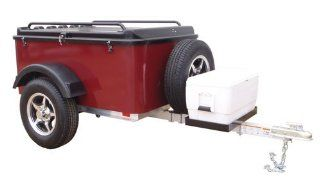 Hybrid Trailer Co. Vacationer with Spare Tire and Cooler Tray   Enclosed Cargo Trailer, 990 lbs. Gross, 30 cu/ft.   Black Cherry Automotive