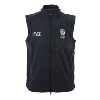 "Emporio Armani Men's ""Italia Team"" Sleeveless Track Jacket Vest at  Men's Clothing store"