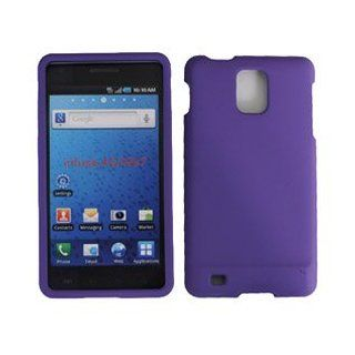 For AT and amp;T Samsung Infuse 4G i997 Accessory   Purple Rubber Hard Case Cover Cell Phones & Accessories
