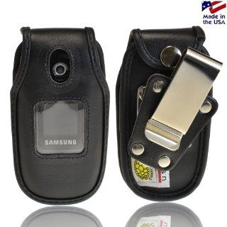Samsung U360 Gusto Turtleback Heavy Duty Leather Phone Case with Removable Metal Clip Health & Personal Care