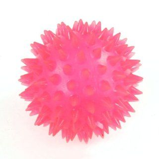Hot Pink Textured Ball Design Squeezing Squeaky Chew Toy for Pet Dog Cat