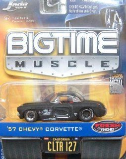 Jada Dub City Big Time Muscle Black 1957 Chevy Corvette 164 Scale Die Cast Car Toys & Games