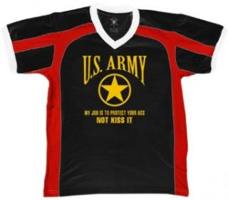 U.S. Army, My Job Is To Protect Your Ass, Not Kiss It Mens Sports T shirt, ARMY Men's Sport Shirt Novelty T Shirts Clothing