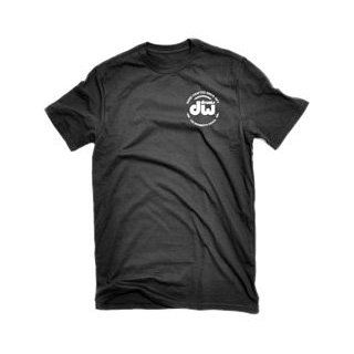 DW Drum Workshop Short Sleeve Tee, Heavy Cotton, Black with DW  Logo, S Musical Instruments