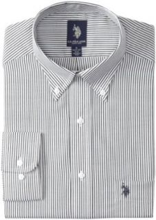 U.S. Polo Assn. Men's Stripe Dress Shirt, Black, 16 16.5/32 33 at  Men�s Clothing store