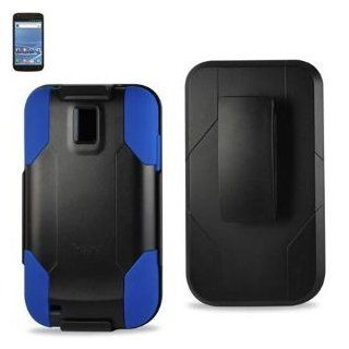 Premium Hybrid Belt Clip Case for T Mobile Samsung Galaxy S2 SGH T989 Hercules   Blue on Black Cell Phones & Accessories