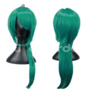 Starry Sky Mix Blue and Green Ponytail Curly Cosplay Wig Costume Wigs  Hair Replacement Wigs  Beauty