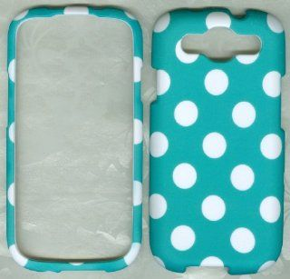 Turquoise Polka Dots Samsung Galaxy S 3 III I9300 Verizon Sph l710 Sprint Sgh t999 T Mobile Hard Phone Cover Case Cell Phones & Accessories