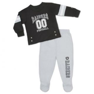 NFL Oakland Raiders 2 Piece Set, Infant/Toddler Pajamas, 9 Months  Football Apparel  Clothing
