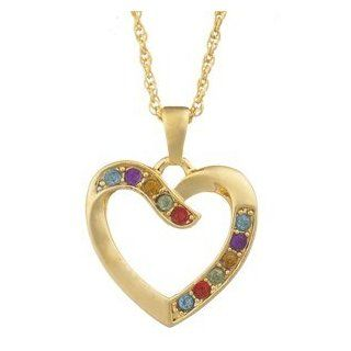 Multicolor Crystal Heart Necklace Jewelry Products Jewelry