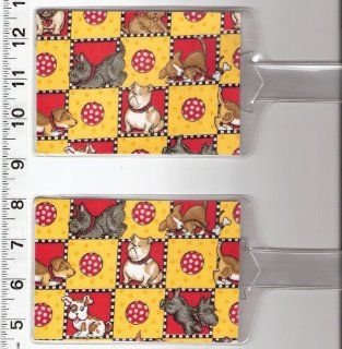 Set of 2 Luggage Tags Made with Mary Engelbreit Best Friends Puppy Dog Fabric  Other Products