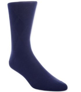 Bugatchi Uomo Men's Socks Classic Argyle Crew Navy 1pair at  Men�s Clothing store Dress Socks