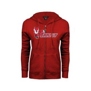 Marist Ladies Red Fleece Full Zip Hoodie 'Marist w/Fox'  Sports Fan Sweatshirts  Sports & Outdoors