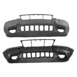 FRONT BUMPER COVER   JEEP GRAND CHEROKEE 1999  2003 LAREDO TXT DARK GRAY W/FOG Automotive
