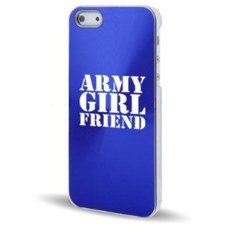 Apple iPhone 5 5S Blue 5C554 Aluminum Plated Hard Back Case Cover Army Girlfriend Cell Phones & Accessories