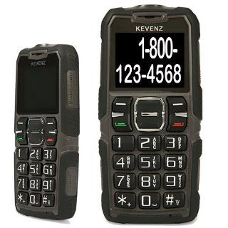 Kevenz Senior Citizen Cell Phone,Big Letters and Big Button,Simple and Easy to Use,SOS Button Phones(Prevent slipping,for over the age of 60 elderly,Unlocked GSM,Brown) Cell Phones & Accessories