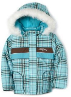 Pacific Trail Kids Girls Youth Plaid Jacket, Blue, 4 Clothing