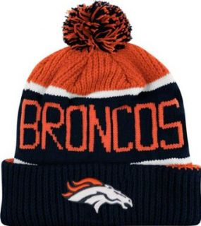 NFL Denver Broncos Men's Calgary Knit Cap, One Size, Orange  Denver Broncos Ball Hat  Clothing
