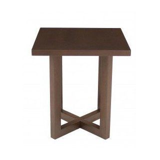 "21"" Square End Table   Mocha Walnut Finish"