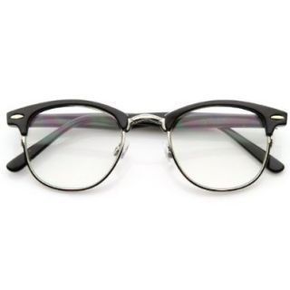 Optical Quality Horned Rim Clear Lens RX'able Half Frame Club Master Glasses Shoes