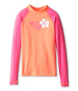 Roxy Kids Island Fever L/S Surf Shirt Girls Swimwear (Pink)