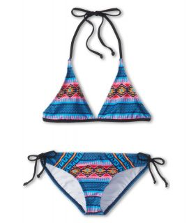 Hurley Kids Mayan Strip Halter Tunnel Girls Swimwear Sets (Navy)