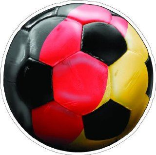 "2"" GERMANY SOCCER BALL Printed engineer grade reflective vinyl decal sticker for any smooth surface such as windows bumpers laptops or any smooth surface."