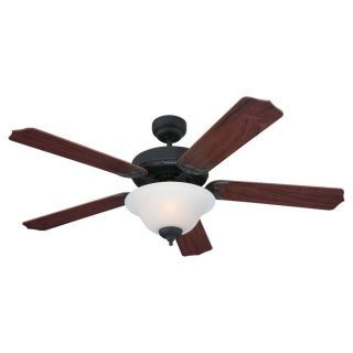Sea Gull Lighting Quality Max Plus 52 in Weathered Iron Indoor Downrod or Flush Mount Ceiling Fan with Light Kit ENERGY STAR