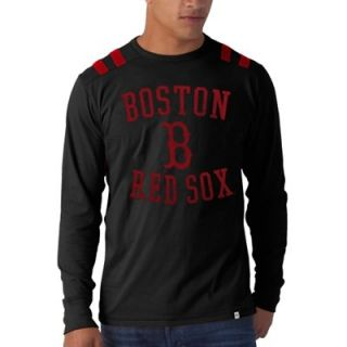 47 Brand Boston Red Sox Bruiser Long Sleeve T Shirt   Black
