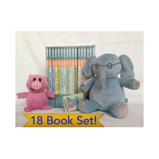 "Elephant and Piggie Complete 18 Book Box Set Bundle with Plush Dolls [Includes ""Let's Go for a Drive""] (I Will Fly, Friend is Sad, There is a Bird, I am Invited, My New Toy, I Will Surprise, Are You Ready, Throw the Ball, Elephants Cannot Dan"