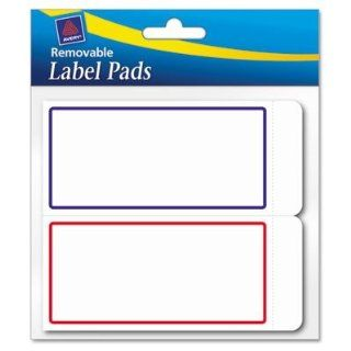 "Avery Consumer Products Products   Label Pads, Removable, 2""x4"", 80/PK, BE/RD Border   Sold as 1 PK   Pad of removable labels is ideal for quick, colorful, and temporary labeling of documents, folders, day planners, books, magazines, and more. Si"