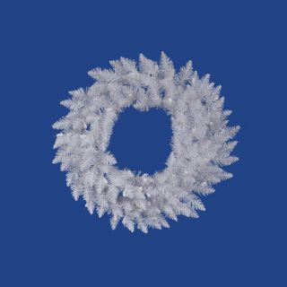 Vickerman 36 in Crystal White Spruce Unlit Artificial Christmas Wreath