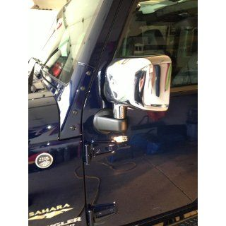 2007 2013 Jeep Wrangler Chrome Mirror Covers (Set of 2) Automotive