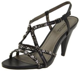 Kenneth Cole REACTION Women's Oh Know U Didn't Ankle Strap Sandal, Black, 5 M US Shoes