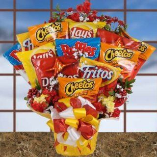 Salty Selections Chip Bouquet  Snack Gift Set for the Snacker  Birthday Gift or Christmas Gift Idea