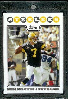2008 Topps # 20 Ben Roethlisberger   Pittsburgh Steelers   NFL Trading Cards in a Protective Display Case Sports Collectibles