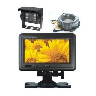 "7"" Headrest TFT LCD Monitor with CCD Color Rear View Backup Camera and 32 ft Cable. by YanTech USA Automotive"