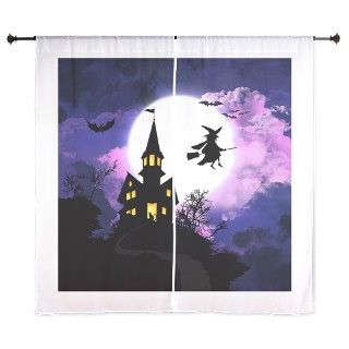 Scary Haunted House with Witch   Happy Halloween C by Picartbook