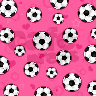 Cute Soccer Ball Print   Pink Keychains by cutetoboot