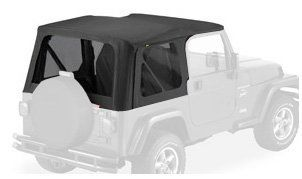 Bestop 79141 35 Black Diamond Sailcloth Replace a Top Soft Top with Tinted Windows; no door skins included for 03 06 Wrangler (except Unlimited) Automotive