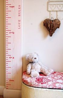 valentines edition 'kids rule' height chart by lovestruck interiors