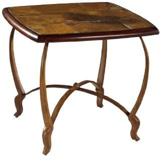 Magnussen Montevideo Wrought Iron Square End Table