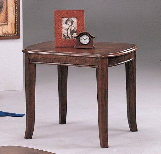 Contemporary Sleek Deep Brown Wood End Table