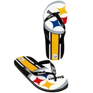 Pittsburgh Steelers official NFL Unisex Flip Flop Beach Shoes Sandals slippers size large