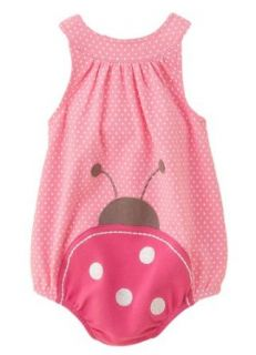 First Impressions Baby Sunsuit, Ladybug Sun Dress, Pink / White, Size 6 9 months Infant And Toddler Bodysuits Clothing