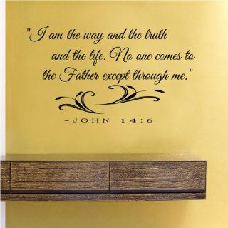 I am the way and the truth and the life no one comes to the Father except through me Vinyl Wall Decals Quotes Sayings Words Art Decor Lettering Vinyl Wall Art Inspirational Uplifting  Nursery Wall Decor  Baby