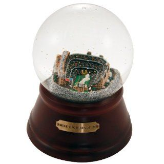 NFL Denver Broncos Mile High Stadium Former Denver Broncos Musical Snow Globe  Sports & Outdoors